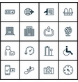 set of 16 transportation icons includes exit vector image vector image