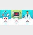 set of medical posters health care vector image vector image