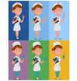 set of nurses vector image vector image