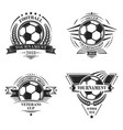 set sport logotypes or emblems in retro style vector image vector image