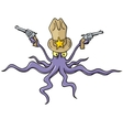 sheriff squid vector image vector image