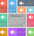 Speaker volume Sound icon sign Set of multicolored vector image
