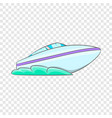 speed boat icon cartoon style vector image vector image