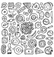 Sweets Doodle Set vector image vector image