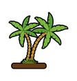Tree palms nature vector image