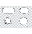 variety cartoon speech bubbles on transparent vector image vector image