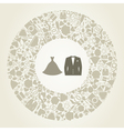 Wedding suit vector image vector image