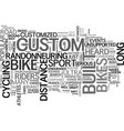 who needs a custom built road bike text word vector image vector image