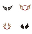 wings logo design vector image vector image