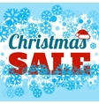 Winter sale poster with CHRISTMAS SALE text vector image vector image