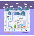 Winter small town vector image