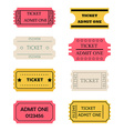 ticket admit one set vector image