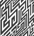monochrome line seamless pattern vector image