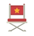 red chair star director film vector image