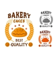 Bakery cakes icon with sweet bun vector image vector image