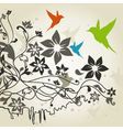 Birds a flower4 vector image vector image