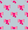 bows seamless pattern vector image