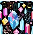 bright pattern crystals vector image vector image