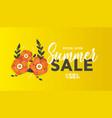 bright summer sale banner poster in trendy design vector image vector image
