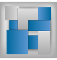 business squares template blue vector image vector image
