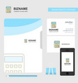 calculator business logo file cover visiting card vector image vector image