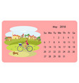 calendar 2018 for may vector image vector image
