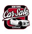 car sale design template vector image