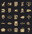 cat icons set simple style vector image vector image