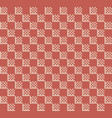 checker pattern in red vector image vector image