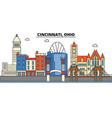 cincinnati ohio city skyline architecture vector image vector image