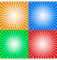 Color Sun Sunburst Background vector image vector image