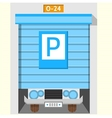 Colored flat icon for parking gate vector image vector image