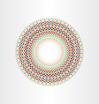 colorful halftone squares circle abstract vector image vector image