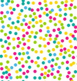 Confetti seamless pattern Bright colors vector image vector image