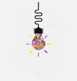 creative bulb light idea abstract design vector image vector image
