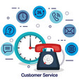 customer service flat settings vector image vector image