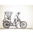 cycle rickshaw vector image vector image