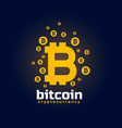 digital bitcoin crypto currency background vector image vector image