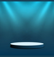 empty stage podium round stage with lighting for vector image vector image