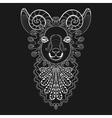 entangle ram head white goat vector image