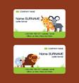 farm animals business-card set domestic vector image vector image