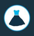 fashion dress icon colored symbol premium quality vector image