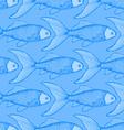 Fish cute seamless pattern vector image vector image