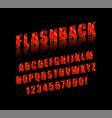 flashback retro type fon vector image vector image