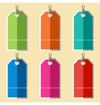 Flat blank badges labels vector image