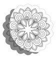 floral mandala icon vector image vector image