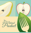 food diet natural product poster vector image vector image
