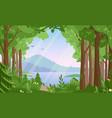 forest landscape flat vector image