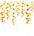 Gold Curling Stream vector image vector image