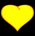 gold heart on black background volume sign 612 vector image